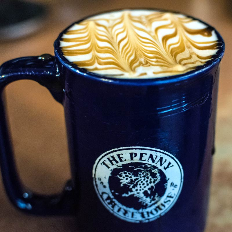 Specialty Coffee in Penny Mug